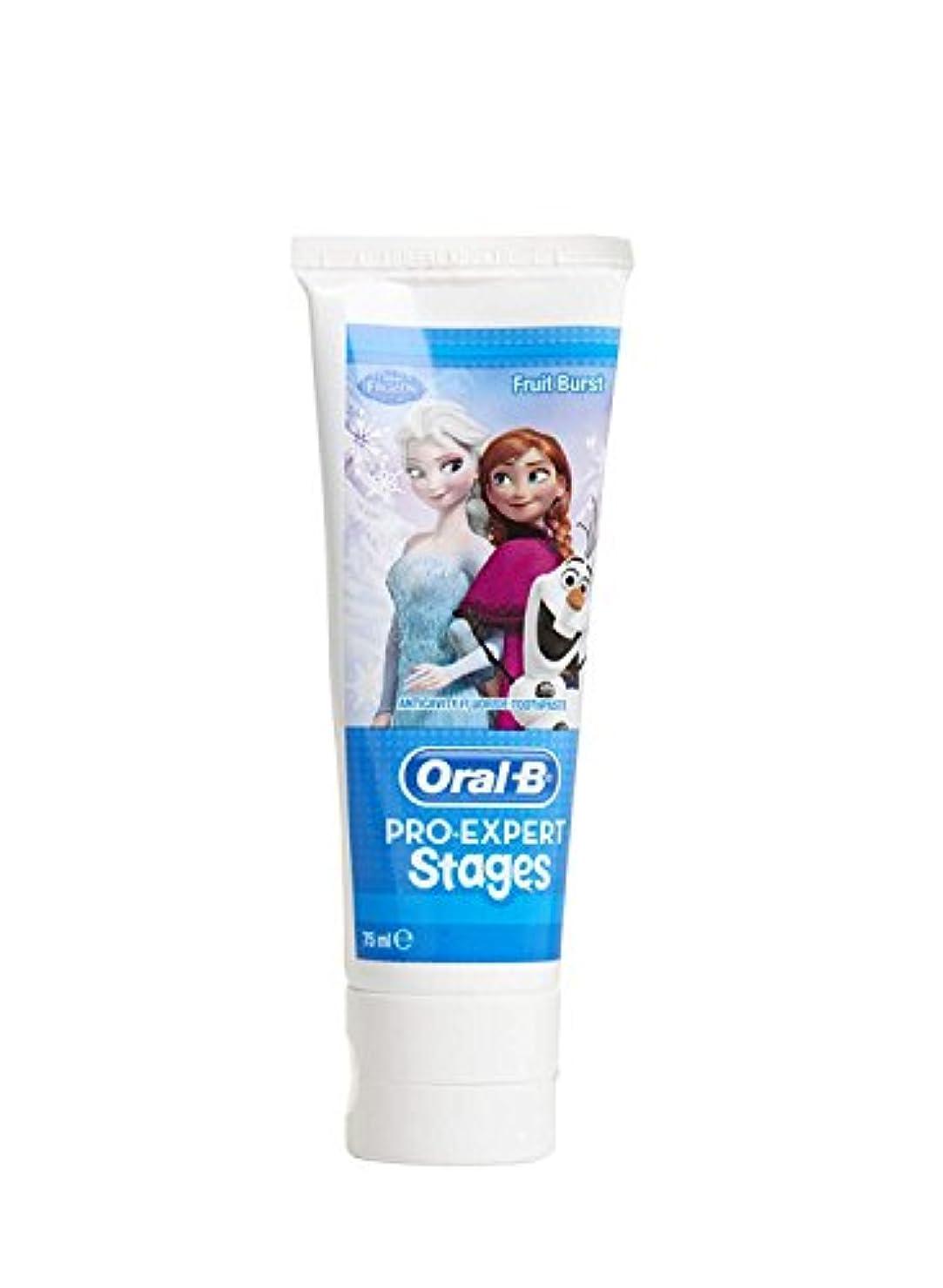 エリート冬上回るオーラルB アナ雪キャラクター 子供用 歯磨き粉 5-7歳対象  並行輸入品 海外発送