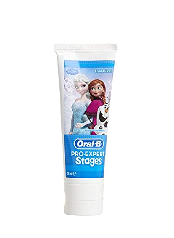 歩道気味の悪いお手伝いさんオーラルB アナ雪キャラクター 子供用 歯磨き粉 5-7歳対象  並行輸入品 海外発送