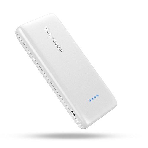 携帯充電器 RAVPower 22000mAh 大容量 モバイルバッテリー ( 急速充電 3ポート 5.8A 出力 2.4A 入力 ) iPhone iPad スマホ タブレット ゲーム機 等対応(高品質リチウムポリマー電池使用、iSmart機能搭載) RP-PB052 白