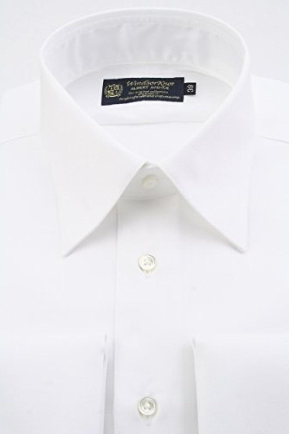 混乱した過半数外交官(ウィンザーノット アルバートアベニュー) Windsorknot Albert Avenue レギュラーカラーのダブルカフス ドレスシャツ 日本製 綿100% イージーアイロン 白無地 ツイル 100番手双糸 rg4476