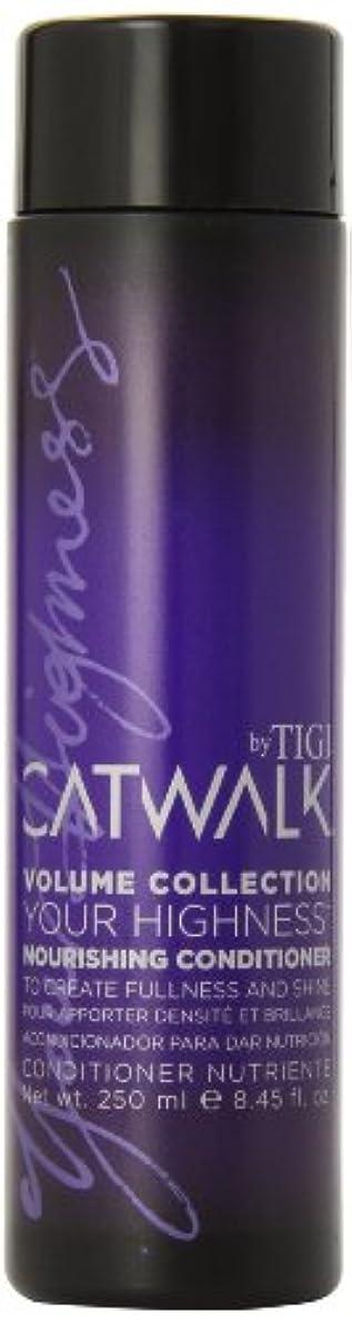 時代落ち着いた天使TIGI Catwalk Your Highness Nourishing Conditioner 250ml (並行輸入品)
