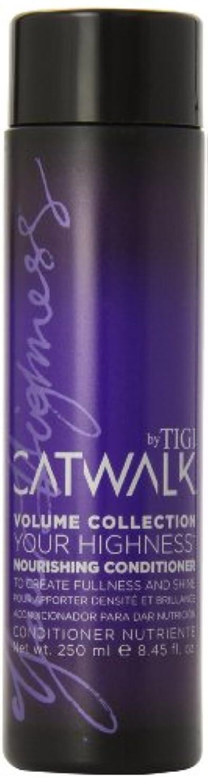 失業者別れるフリースTIGI Catwalk Your Highness Nourishing Conditioner 250ml (並行輸入品)
