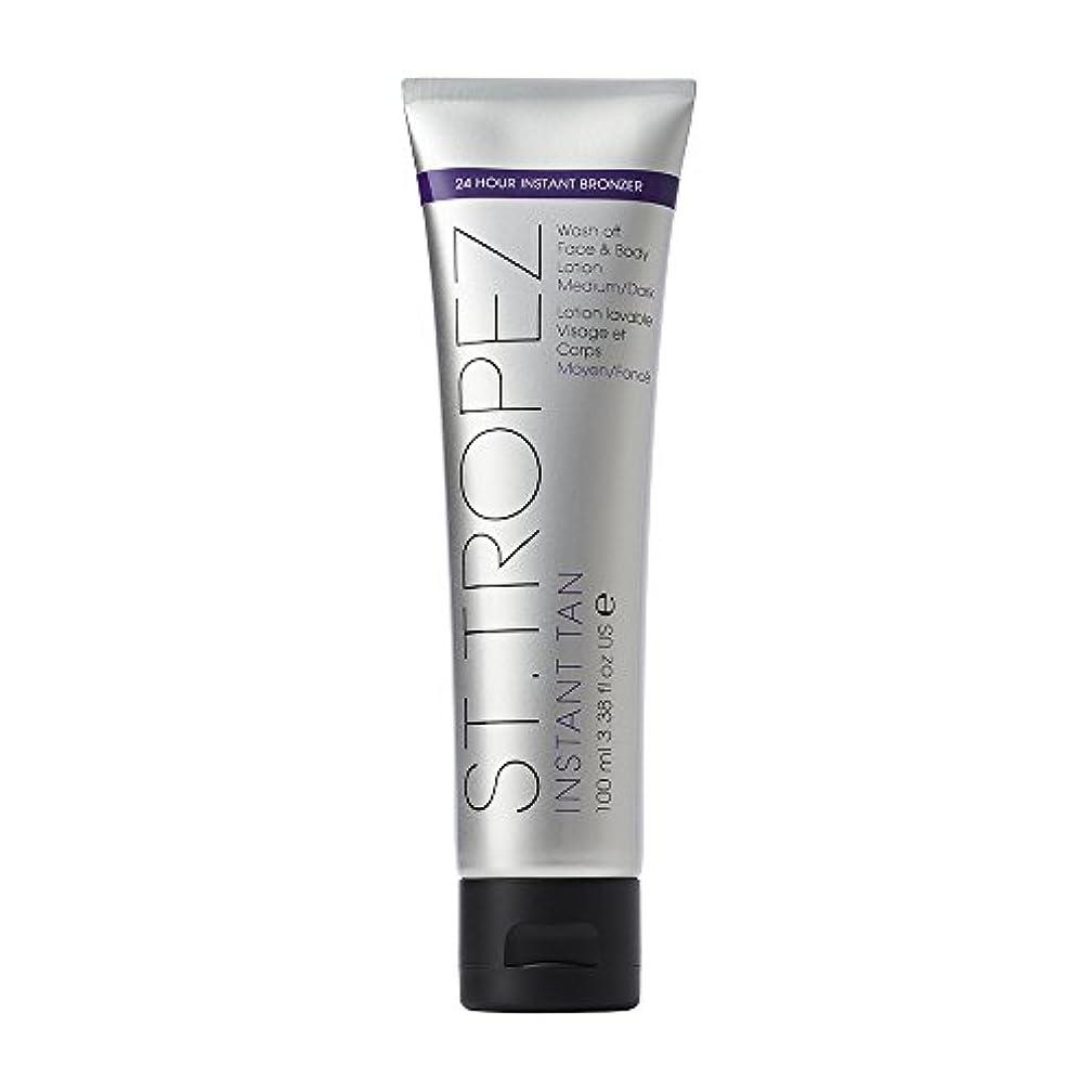 マイルド側断片St Tropez Instant Tan Wash Off Face & Body Lotion 100ml Medium/Dark / ???????????????????????????????????100??...