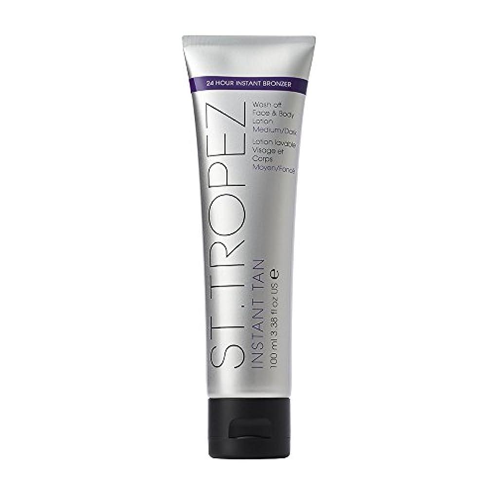 ヘロイン絶壁担保St Tropez Instant Tan Wash Off Face & Body Lotion 100ml Medium/Dark / ???????????????????????????????????100??...