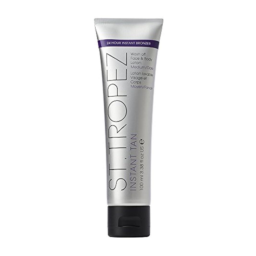 アイドル大理石固執St Tropez Instant Tan Wash Off Face & Body Lotion 100ml Medium/Dark / ???????????????????????????????????100??...