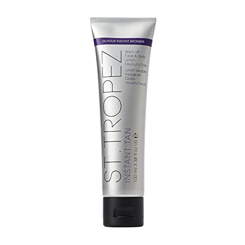 操作可能宇宙九St Tropez Instant Tan Wash Off Face & Body Lotion 100ml Medium/Dark / ???????????????????????????????????100??...