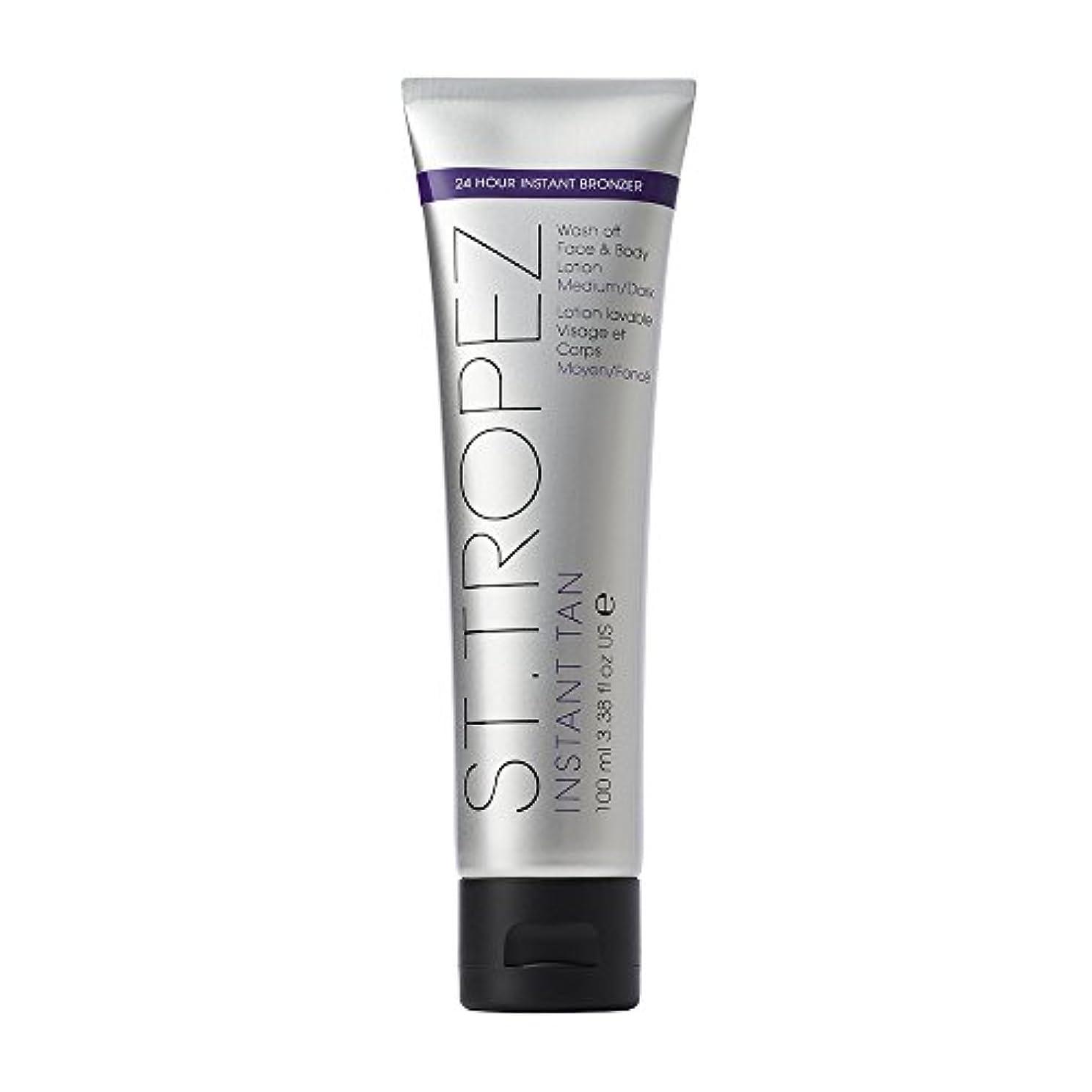 表面リブ天使St Tropez Instant Tan Wash Off Face & Body Lotion 100ml Medium/Dark / ???????????????????????????????????100??...