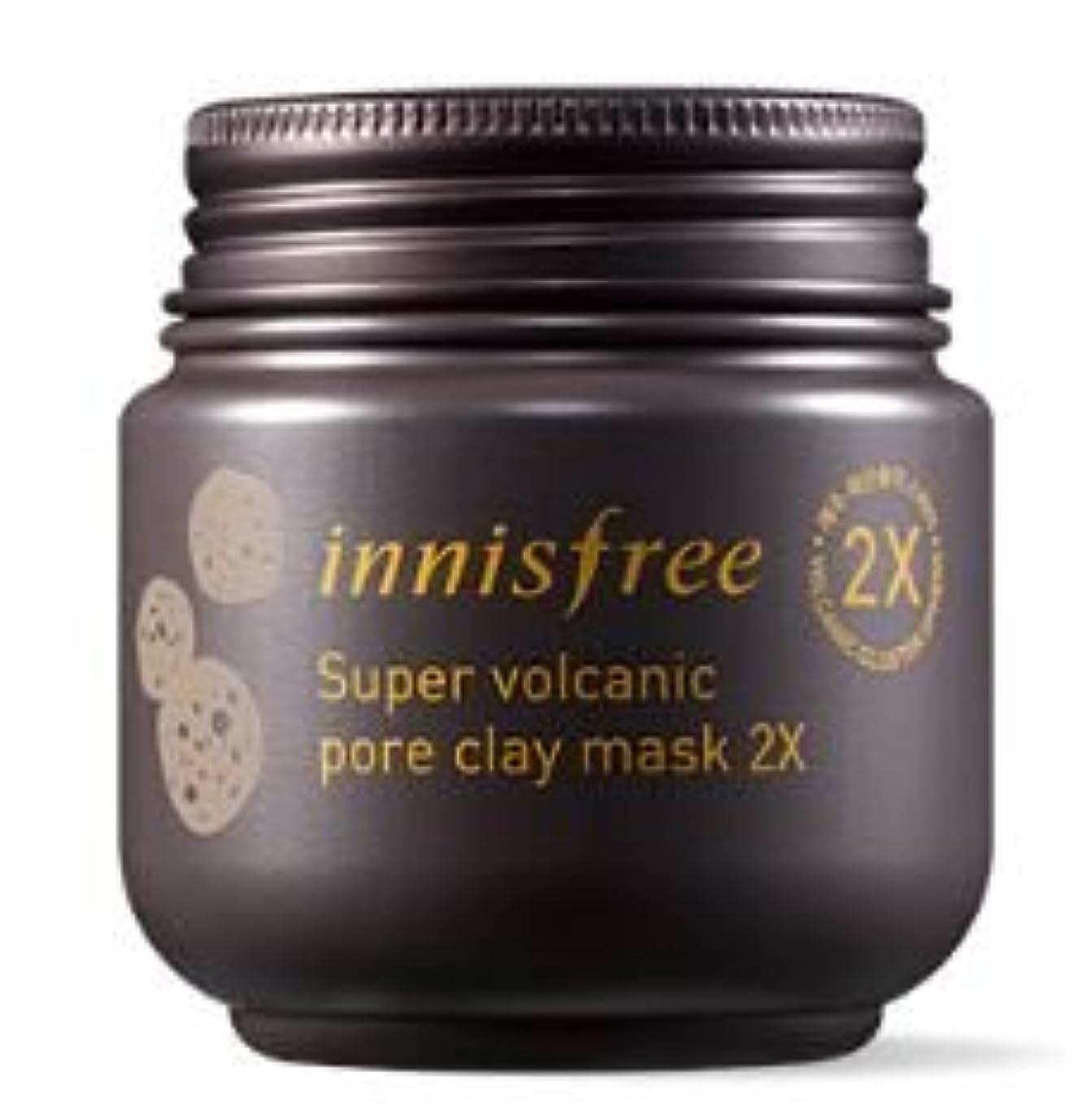 恥たくさんのギャザー★NEW★[innisfree] Super Volcanic Pore Clay Mask 2x 100ml [並行輸入品]
