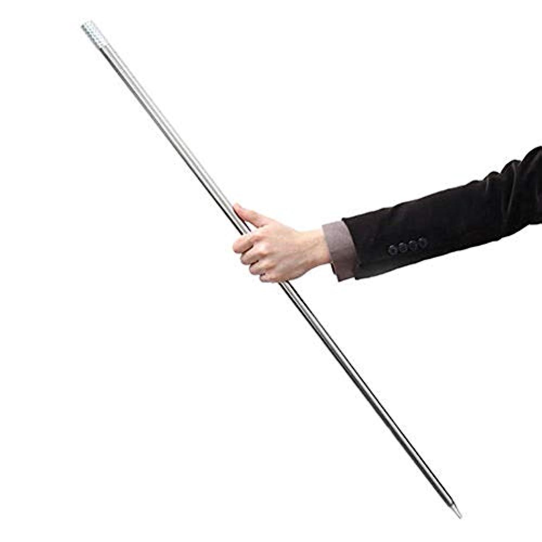 ruixuered-トリッキーノベルティ1.5mの出現杖スティックステージ閉じる幻想の絹の杖魔法トリックギミック - シルバー