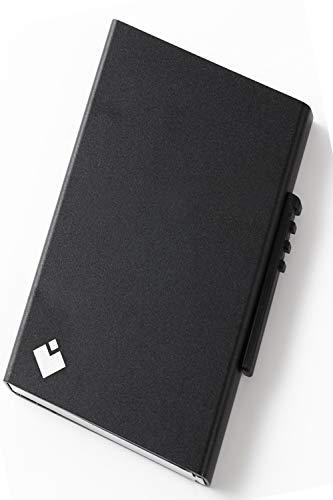 スキミング防止 カードケース クレジットカードケース 磁気防止 スライド式 6枚収納 (ブラック)