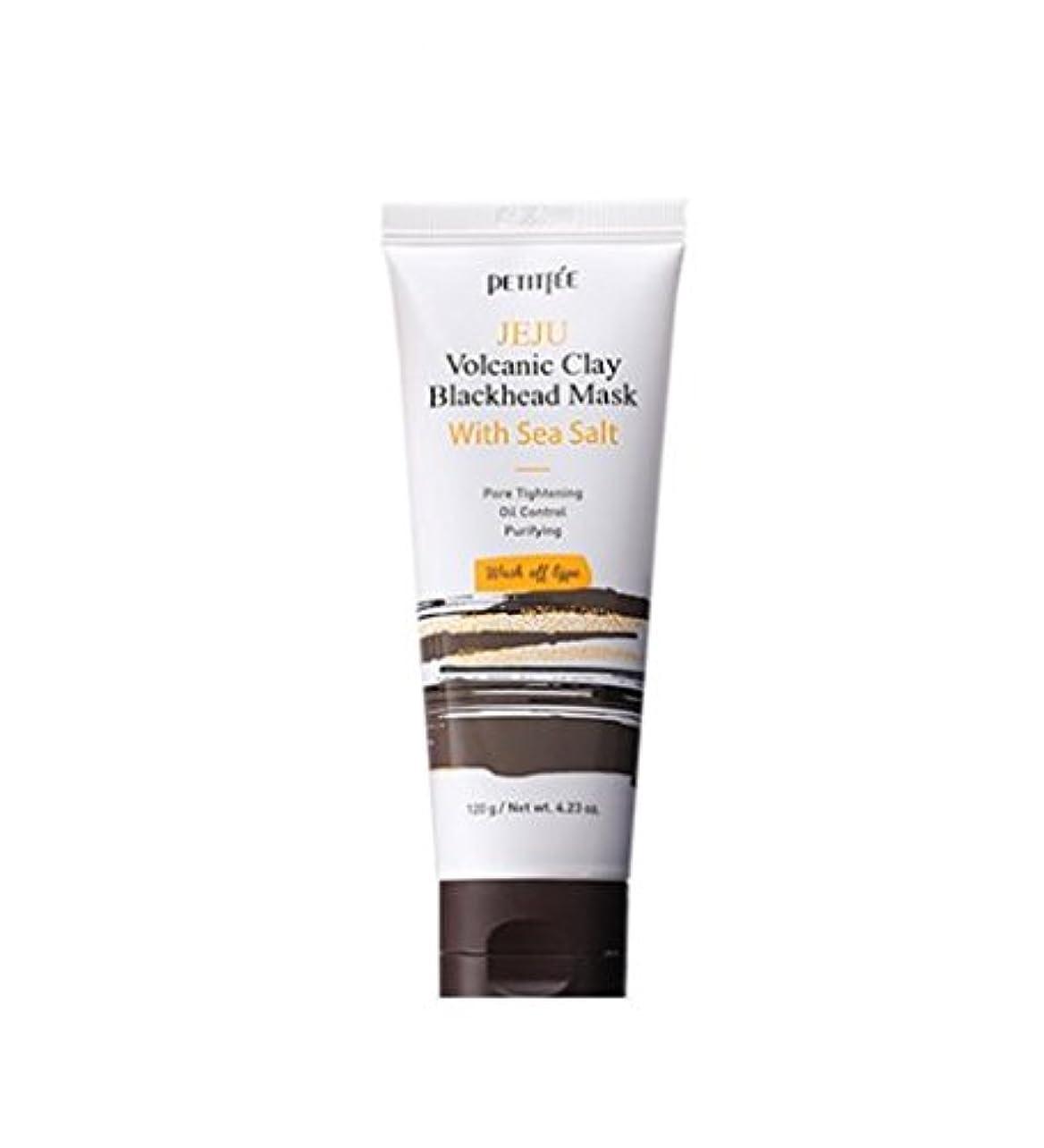 対処マグ低下PETITFEE (プチペ) JEJU 火山 クレー ブラックヘッド マスク ウィズ シーソルト/JEJU Volcanic Clay Blackhead Mask With Sea Salt (120g) [並行輸入品]
