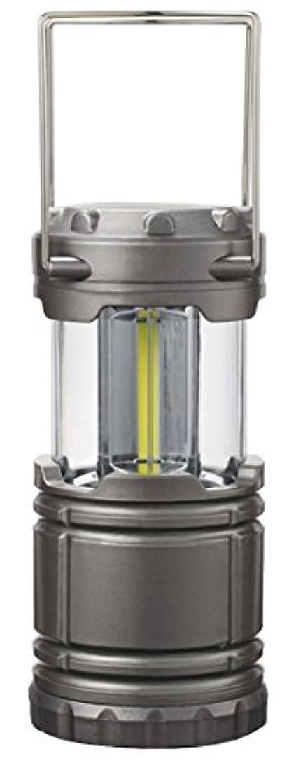 ギャザー緩めるコアリマーク(REMARK) COBハイパワーランタンライト グレーブラック 径8.7cm 上下スライド点灯