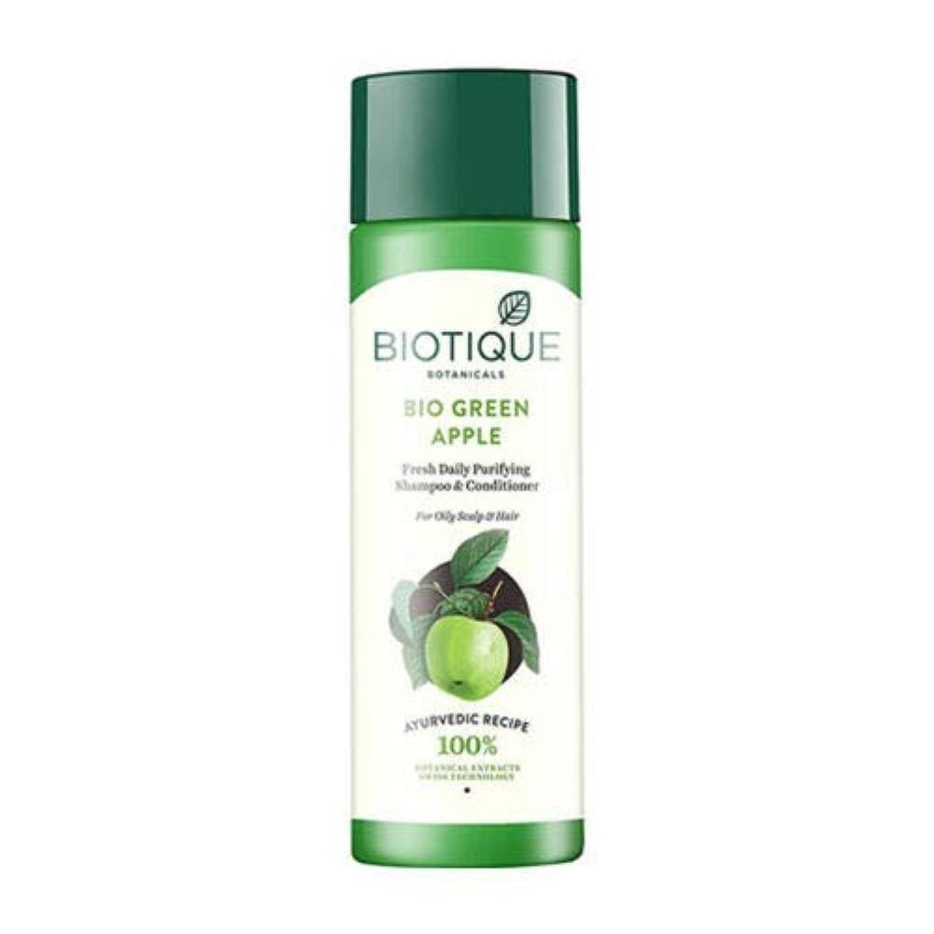 アジア持参ブルBiotique Fresh Daily Purifying Shampoo & Conditioner - Bio Green Apple (190 ml) Biotiqueフレッシュデイリーピュリファイングシャンプー...
