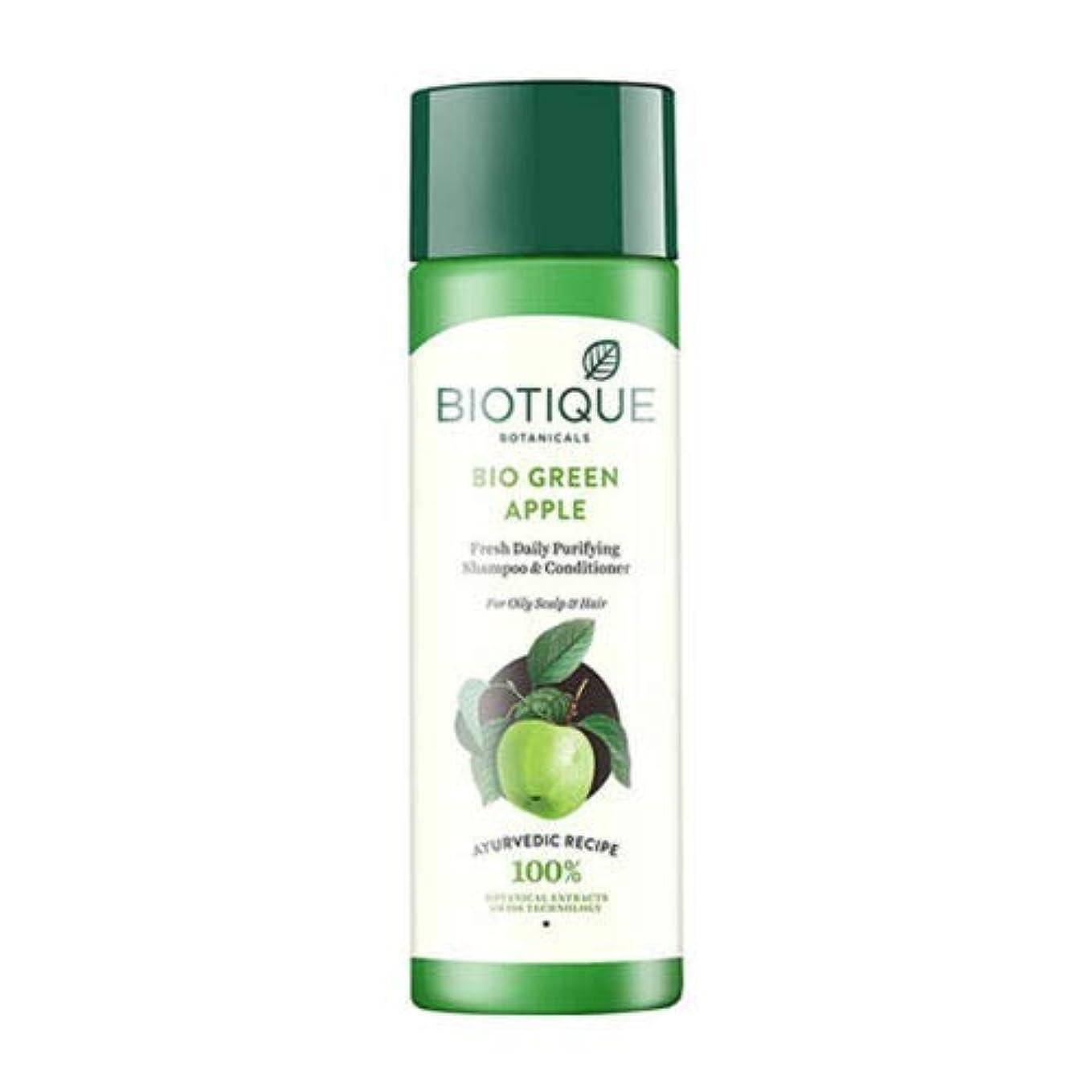 サーキットに行くタイマー一族Biotique Fresh Daily Purifying Shampoo & Conditioner - Bio Green Apple (190 ml) Biotiqueフレッシュデイリーピュリファイングシャンプー...