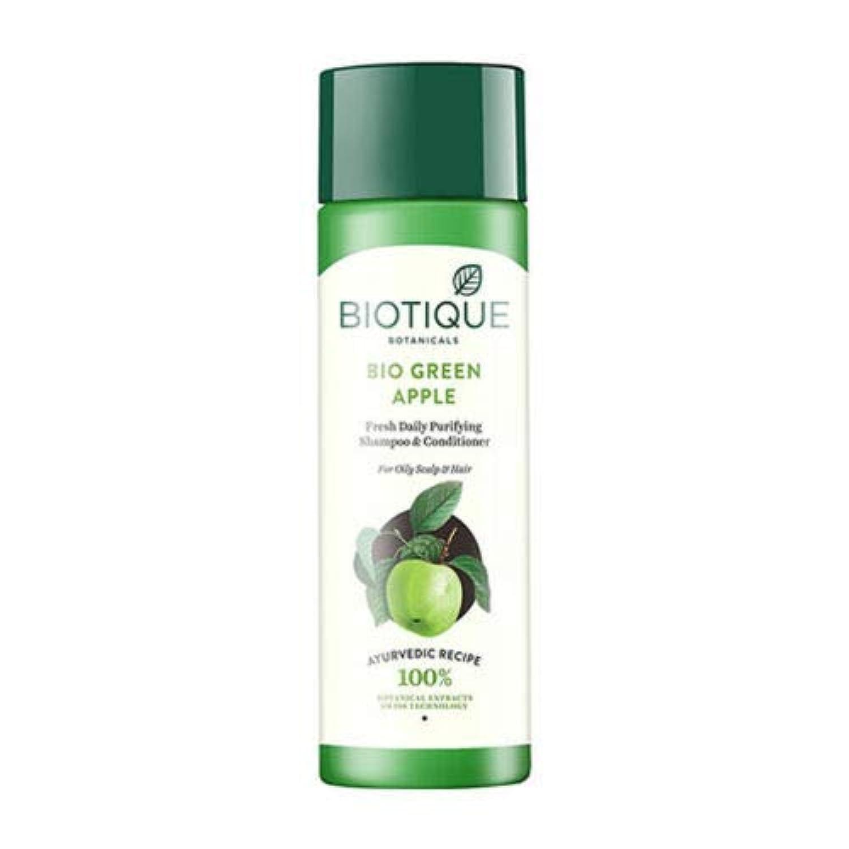 労働者摘む序文Biotique Fresh Daily Purifying Shampoo & Conditioner - Bio Green Apple (190 ml) Biotiqueフレッシュデイリーピュリファイングシャンプー...