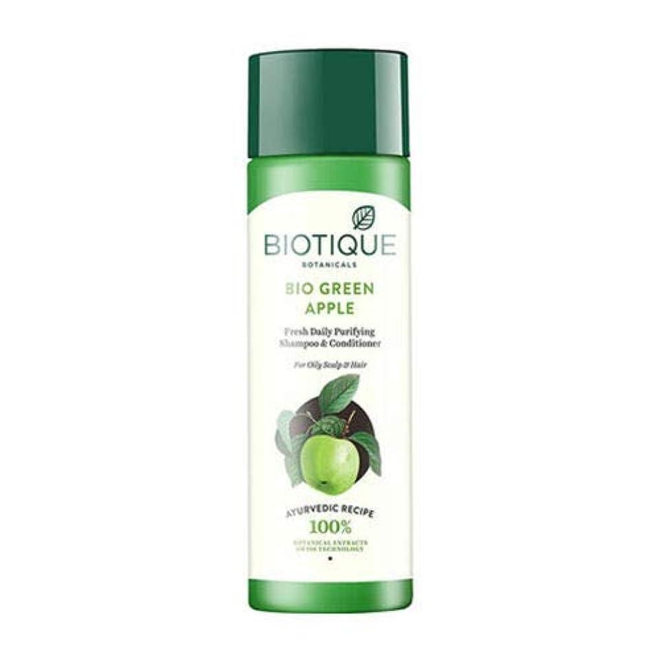 銀行制限活力Biotique Fresh Daily Purifying Shampoo & Conditioner - Bio Green Apple (190 ml) Biotiqueフレッシュデイリーピュリファイングシャンプー...