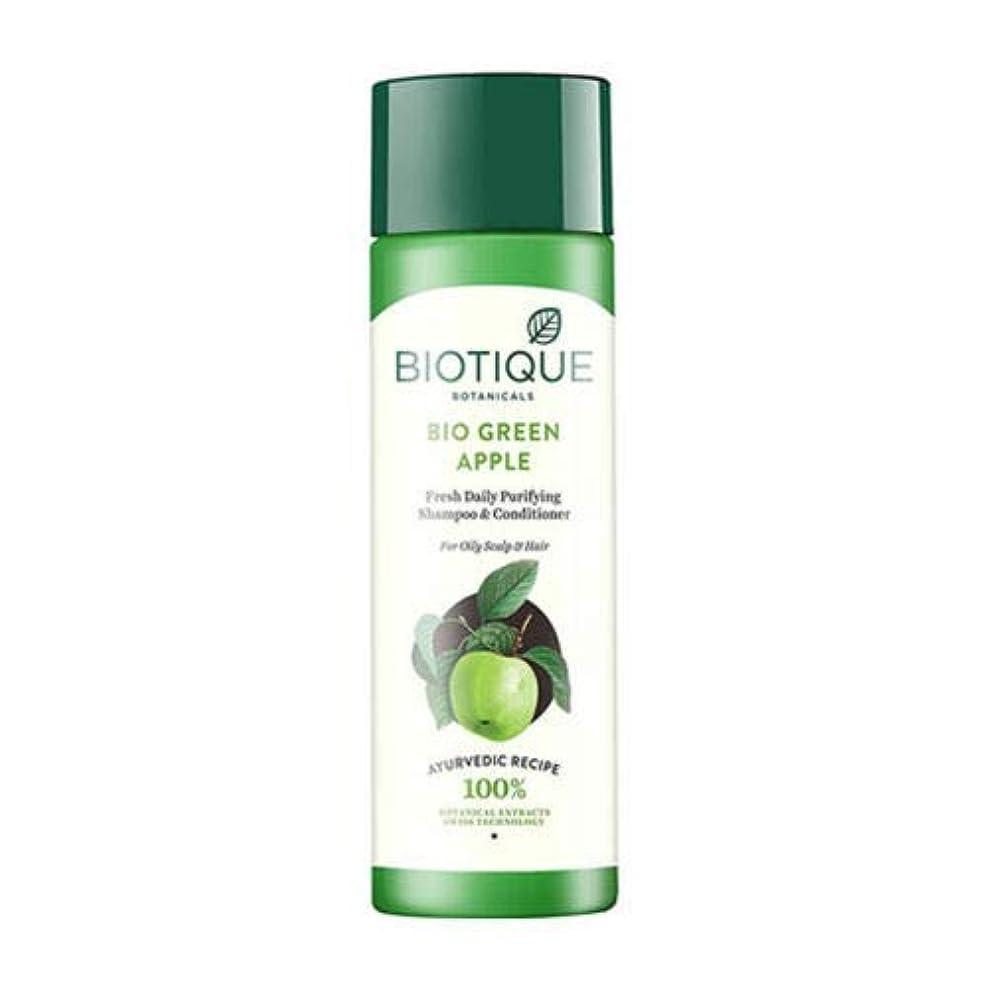 スキーム結核ストロークBiotique Fresh Daily Purifying Shampoo & Conditioner - Bio Green Apple (190 ml) Biotiqueフレッシュデイリーピュリファイングシャンプー...