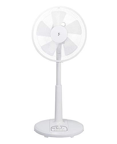 【Amazon.co.jp限定】山善 扇風機 30cm リビング扇 押しボタンスイッチ 風量調節3段階 タイマー機能付き ホワイト AMT-KC30(W)