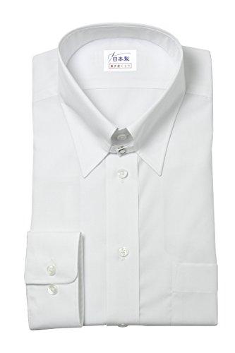 軽井沢シャツ メンズ 長袖ビジネスシャツ (形態安定シャツ) タブカラー タブホックカラー バック-サイドタック フォーマル形態安定 [A10KZZT01] 標準型