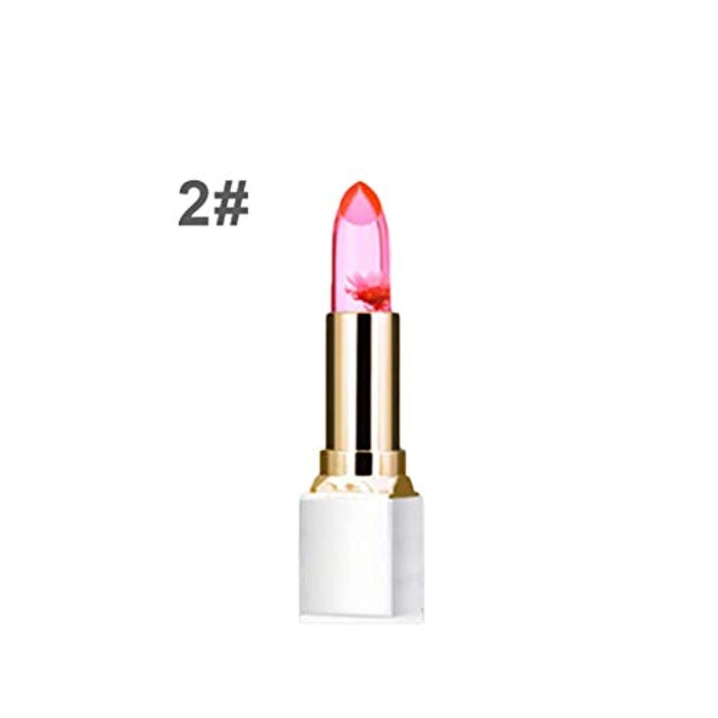 死傷者ポーター汚染された透明なゼリーは花口紅防水色の変更口紅ファッション唇ペン美容メイクアップ化粧品のツールを干し