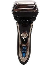 アクティブ3Dヘッド 4枚刃 防水 充電式 電気シェーバー 高速リニアモーター 髭剃り 男性用 ひげそり 液晶ディスプレイ付き