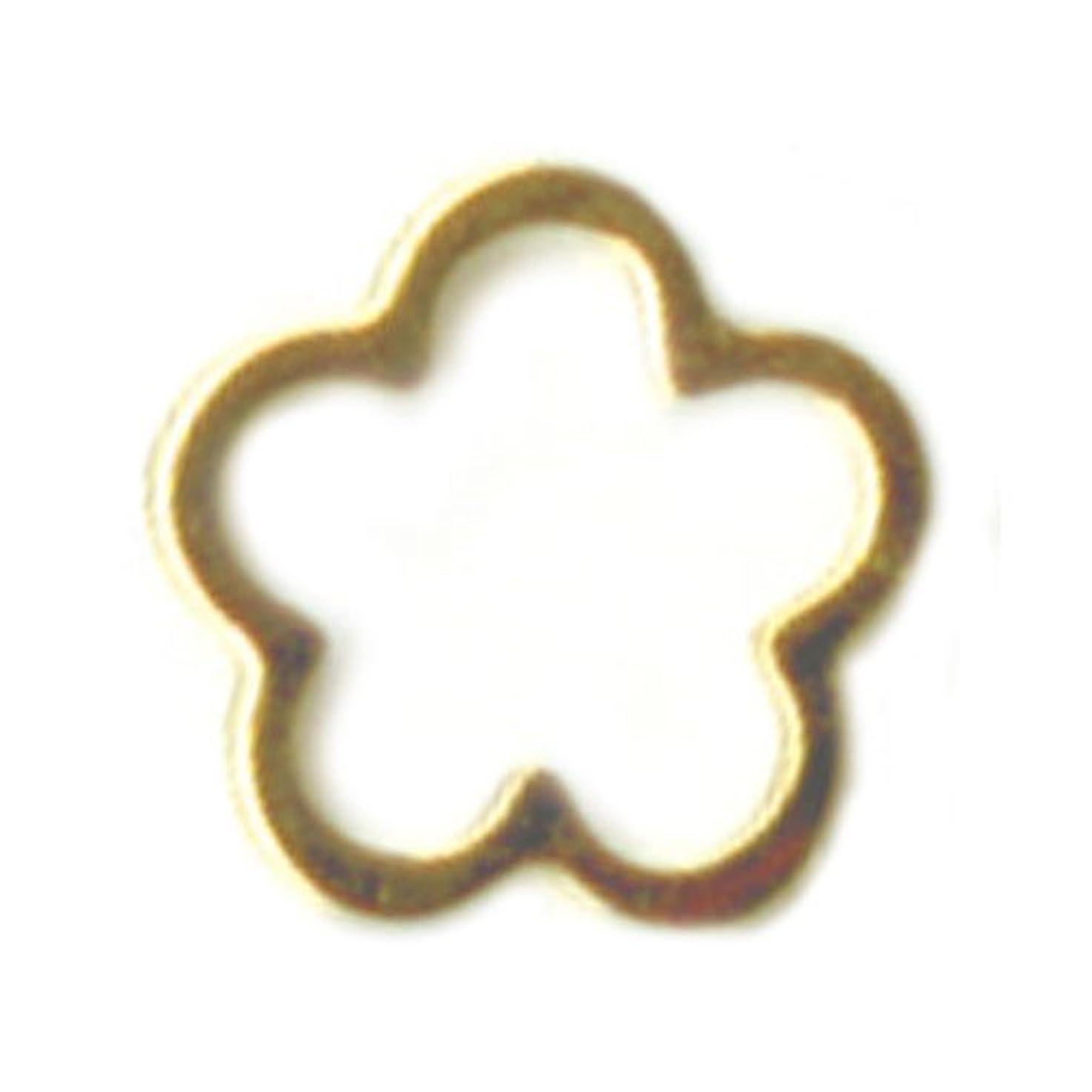 縁石思いやり凝視リトルプリティー ネイルアートパーツ サクラ SS ゴールド 10個