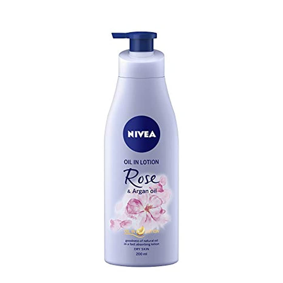 トークン革新ピービッシュNIVEA Oil in Lotion, Rose and Argan Oil, 200ml