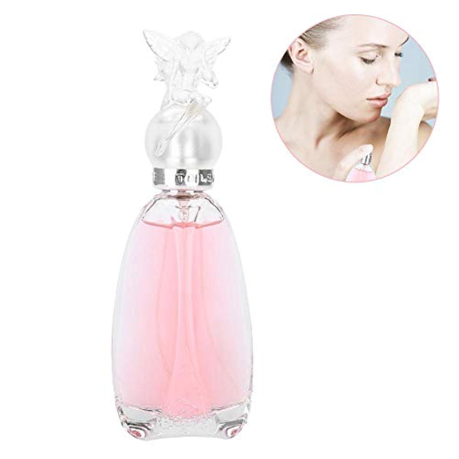 オデュッセウスまっすぐにする味50ミリリットル香水ウォータースプレー、女性のための香水フレッシュフルーツフレグランスパーティー女王香水ガラス瓶セクシーな素晴らしい長続きがする香水(Pink)