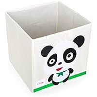 Orange 収納ボックス カラーボックス 引き出し 収納ケース ボックス 折りたたみ おもちゃ箱 布製 かわいい 動物柄 幅330mm×奥行330mm×高さ330mm (パンダ) …