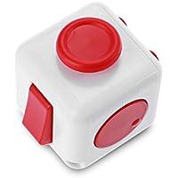 ストレス解消キューブ 圧力削減おもちゃ 不安 緊張 おもちゃ ストレス解消マジック ストレスを減らすReliever Reducing Toy for Office Worker (ローズレッド+ホワイト)