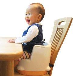 MIKIHOUSE FIRST(ミキハウスファースト)2通り使える便利なテーブル付きベビーチェア(ハイローチェア) -,白