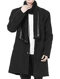 (オリログ)ALLYLOG メンズ メルトン コート チェスターコート 秋冬 防寒 アウター ゴング丈 ジャケット