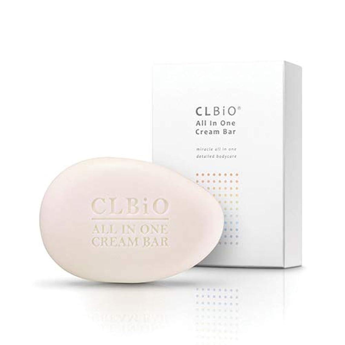 ショート危険を冒します暫定のCLBIOオールインワンクリームバー 石鹸 保湿 全身石鹸 洗顔 コラーゲン オールインワン