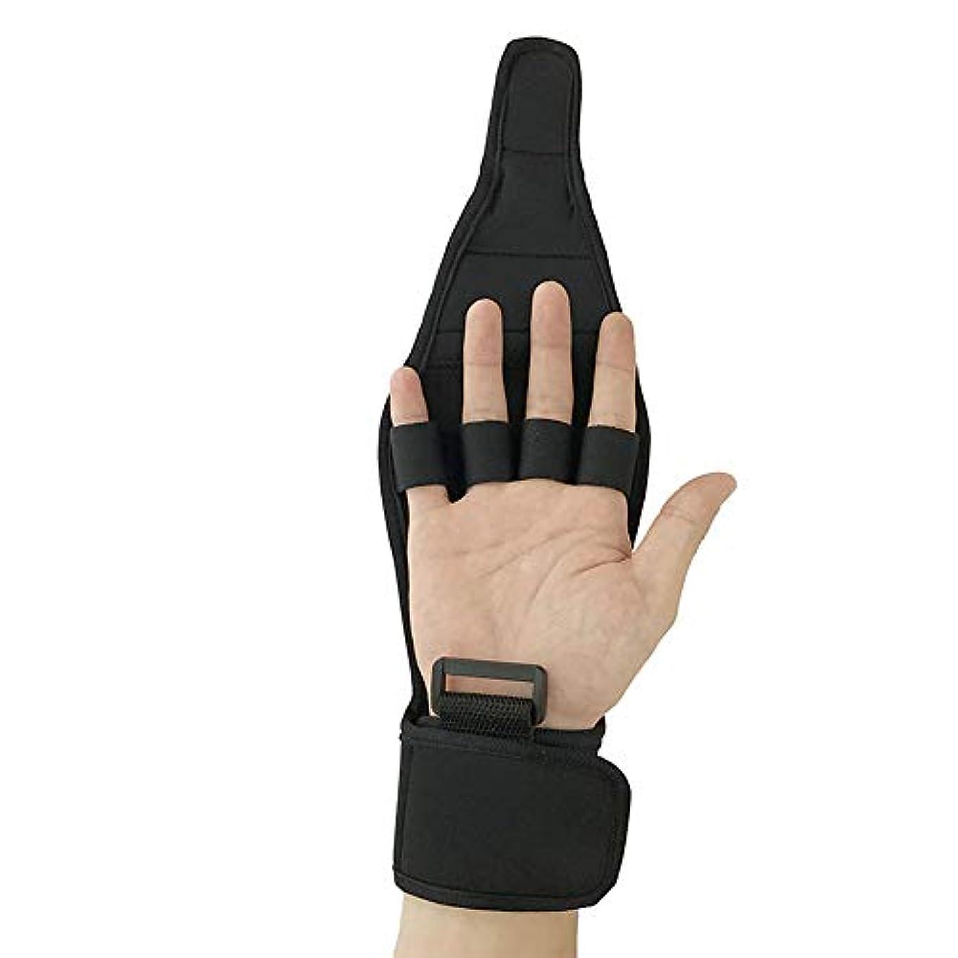 乗算約塩辛いトレーニング用手袋、フォースリハビリテーション用手袋、調節可能な伸縮性抗痙性耐久性、異なる手側用の指副木ブレース