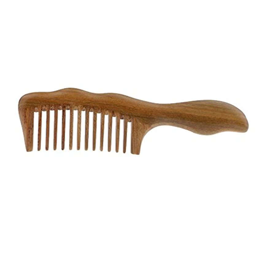男やもめワイド論理的木製コーム ヘアコーム 櫛 ヘアブラシ 頭皮 ケア マッサージ 静電防止 高級木製櫛