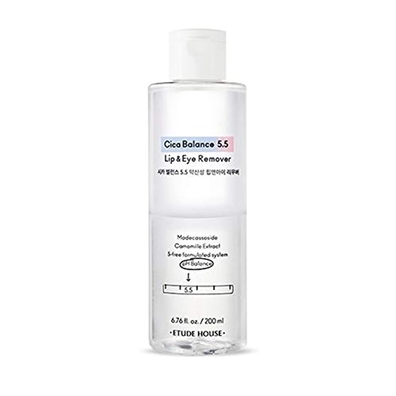 感性持続的電極[Etude] エチュードハウス Cica Balance 5.5 Lip & Eye Remover シカバランス 5.5 弱酸性リップアンドアイリムーバー(メイク落とし)200ml - Makeup Remover...