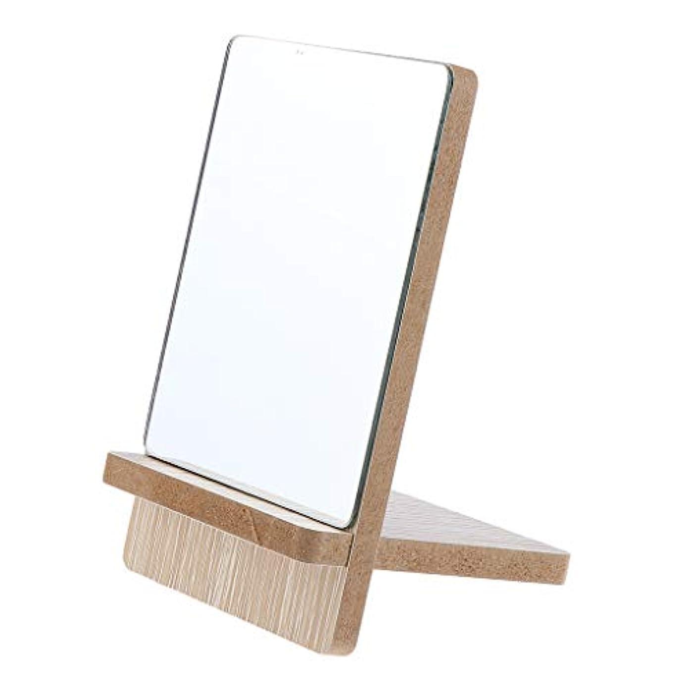 蒸確立再生化粧鏡 スタンド 卓上 メイクアップミラー 立てミラー バニティミラー 折りたたみ 3サイズ選べ - 小