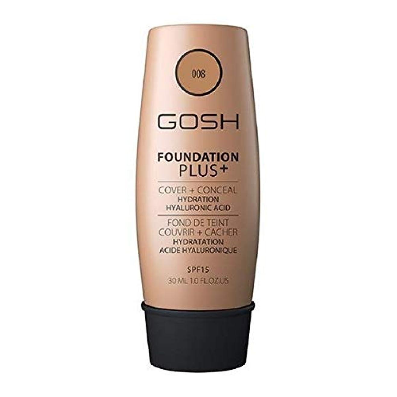 髄性的韓国語[GOSH ] おやっ基盤プラス+黄金008 - Gosh Foundation Plus+ Golden 008 [並行輸入品]