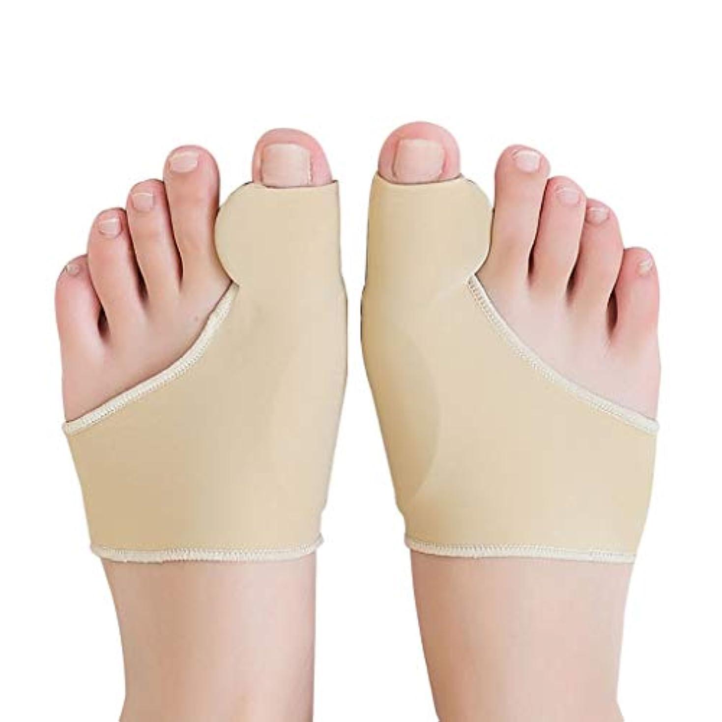 どうやらピックトランザクション女性の大きな足のつま先のケアシリコーンは大きな親指反転カバーで着用 窓の外の小雨