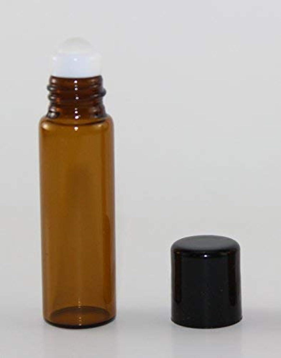 自明約束する物質USA 72 Amber Glass 5 ml Roll-On Glass Bottles with GLASS Roller Roll On Balls - Refillable Aromatherapy Essential...