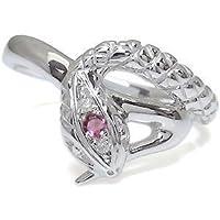 プレジュール メンズ・ピンクトルマリン・リング・プラチナ・スネーク・指輪・蛇 リングサイズ13号
