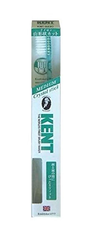 紫の再現する構造的KENT(ケント) クリスタルスティック ナイロン歯ブラシ ふつう KNT9230 エメラルドグリーン