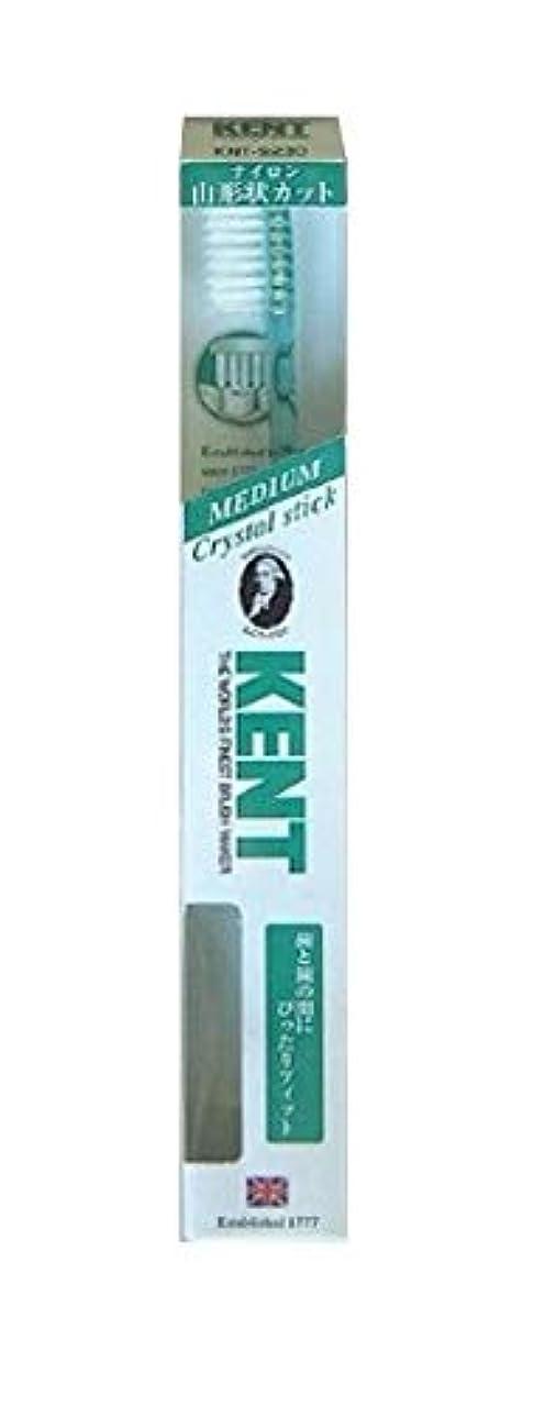 歩き回る兵士衣類KENT(ケント) クリスタルスティック ナイロン歯ブラシ ふつう KNT9230 エメラルドグリーン