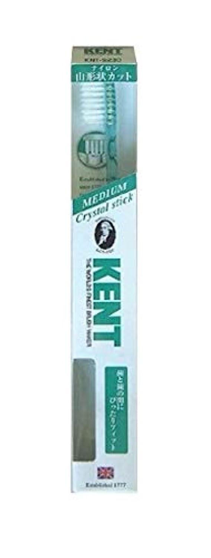 全体ミシン目恐竜KENT(ケント) クリスタルスティック ナイロン歯ブラシ ふつう KNT9230 エメラルドグリーン
