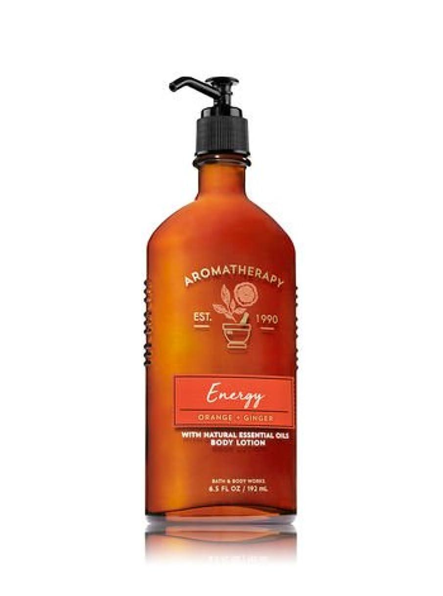 幼児遅滞むしろバス&ボディワークス アロマセラピー エナジー オレンジジンジャー ボディローション Aromatherapy Energy Orange Ginger Body Lotion【並行輸入品】