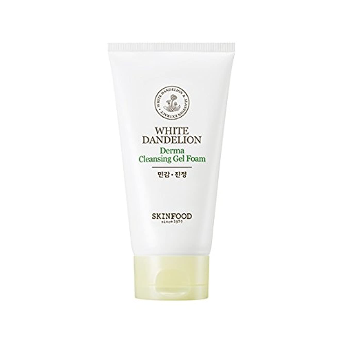 懐疑論約競争Skinfood/White Dandelion Derma Cleansing Gel Foam/ホワイトタンポポダーマクレンジングジェルフォーム/150ml [並行輸入品]