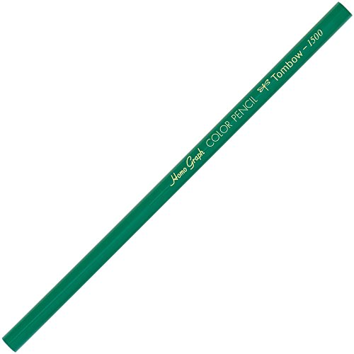 トンボ鉛筆 色鉛筆 1500単色 緑 1ダース 1500-07