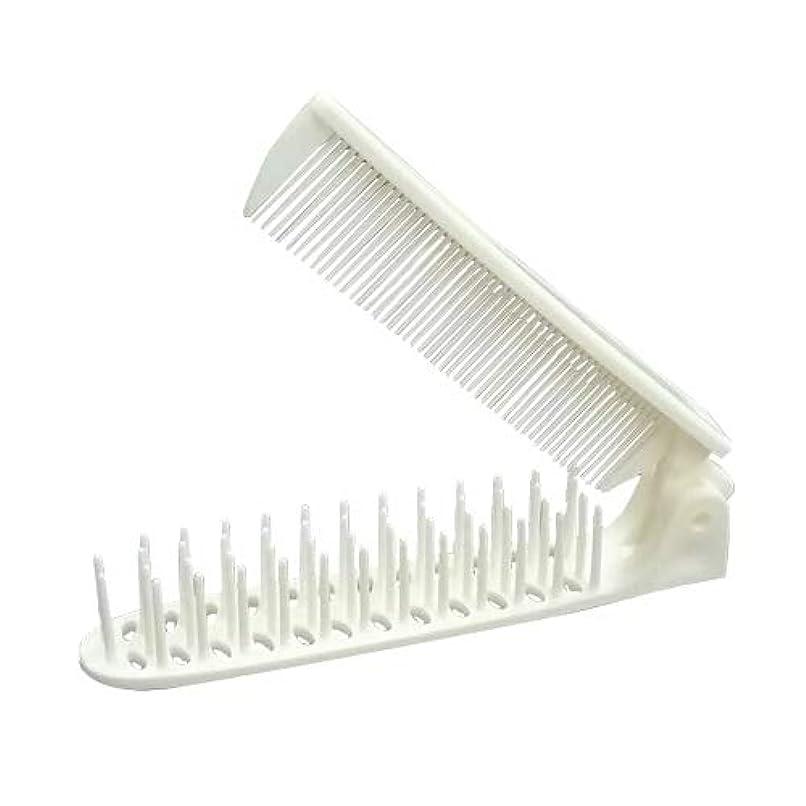 わざわざウサギエコーホテルアメニティ 使い捨てヘアブラシ 個包装タイプ 業務用 コーム付折りたたみブラシ ×5個セット (コーム&スリムヘアーブラシ 2WAYTYPE)
