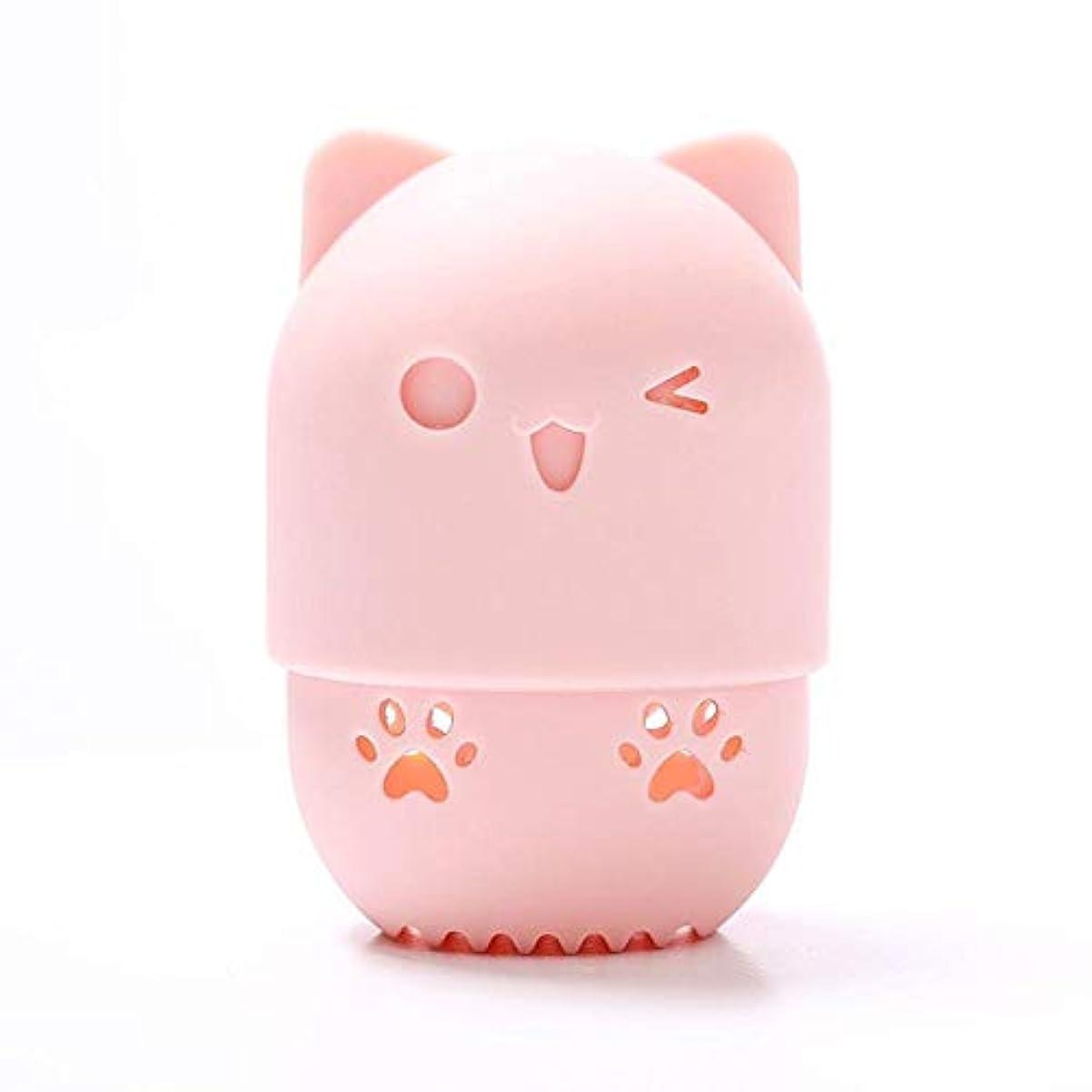 スラムスキップ財政メイクスポンジスタンド 化粧用パフ收納 パフホルダー シリコーン製 可愛い 小型軽量