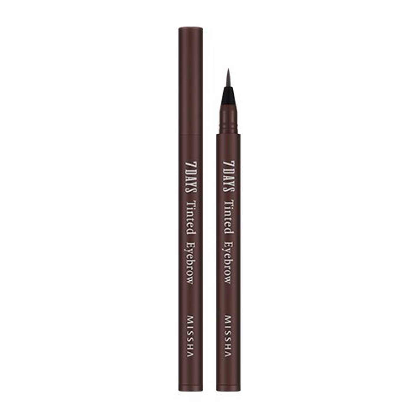 販売計画借りる雄大なMISSHA Seven Days Tinted Eye Brow 0.8ml (#01 Maroon Brown)/ミシャ セブンデイズ ティンテッド アイブロウ 0.8ml (#01 Maroon Brown)